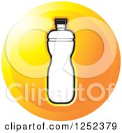 Clipart Of A Round Orange Water Bottle Icon Royalty Free Vector Illustration by Lal Perera