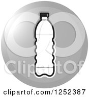 Clipart Of A Round Silver Water Bottle Icon Royalty Free Vector Illustration by Lal Perera
