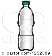 Clipart Of A Silver Water Bottle Royalty Free Vector Illustration by Lal Perera
