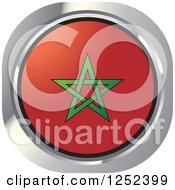 Clipart Of A Round Moroccan Flag Icon Royalty Free Vector Illustration