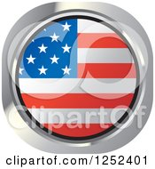 Clipart Of A Round American Flag Icon Royalty Free Vector Illustration