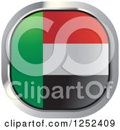 Clipart Of A Round UAE Flag Icon 2 Royalty Free Vector Illustration