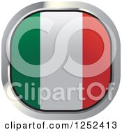 Clipart Of A Square Italian Flag Icon Royalty Free Vector Illustration