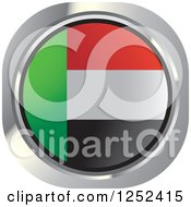 Clipart Of A Round UAE Flag Icon Royalty Free Vector Illustration