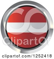 Clipart Of A Round Latvian Flag Icon 2 Royalty Free Vector Illustration
