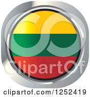 Clipart Of A Round Lithuanian Flag Icon Royalty Free Vector Illustration