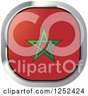 Clipart Of A Square Moroccan Flag Icon Royalty Free Vector Illustration