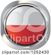 Clipart Of A Round Polish Flag Icon Royalty Free Vector Illustration