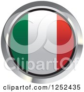 Clipart Of A Round Italian Flag Icon 2 Royalty Free Vector Illustration