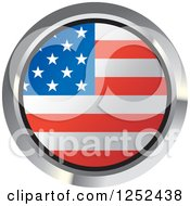 Clipart Of A Round American Flag Icon 2 Royalty Free Vector Illustration