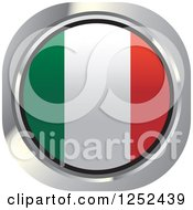 Clipart Of A Round Italian Flag Icon Royalty Free Vector Illustration