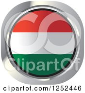 Clipart Of A Round Hungarian Flag Icon Royalty Free Vector Illustration