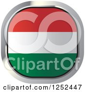 Clipart Of A Square Hungarian Flag Icon Royalty Free Vector Illustration