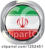 Clipart Of A Round Iranian Flag Icon Royalty Free Vector Illustration