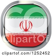 Clipart Of A Square Iranian Flag Icon Royalty Free Vector Illustration