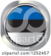 Clipart Of A Round Estonia Flag Icon Royalty Free Vector Illustration