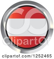 Clipart Of A Round Austrian Flag Icon 2 Royalty Free Vector Illustration