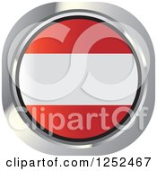Clipart Of A Round Austrian Flag Icon Royalty Free Vector Illustration