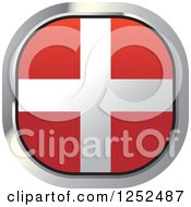 Clipart Of A Square Denmark Flag Icon Royalty Free Vector Illustration