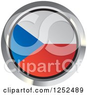 Clipart Of A Round Czech Republic Flag Icon 2 Royalty Free Vector Illustration