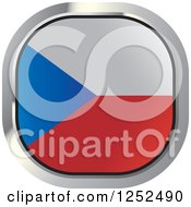 Clipart Of A Square Czech Republic Flag Icon Royalty Free Vector Illustration