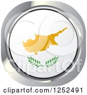 Clipart Of A Round Cyprus Flag Icon Royalty Free Vector Illustration