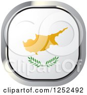 Clipart Of A Square Cyprus Flag Icon Royalty Free Vector Illustration