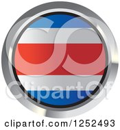 Clipart Of A Round Costa Rica Flag Icon 2 Royalty Free Vector Illustration