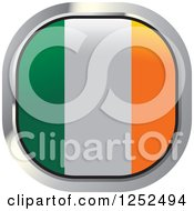 Clipart Of A Square Irish Flag Icon Royalty Free Vector Illustration