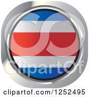 Clipart Of A Round Costa Rica Flag Icon Royalty Free Vector Illustration