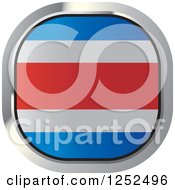 Clipart Of A Square Costa Rica Flag Icon Royalty Free Vector Illustration