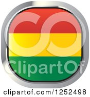 Clipart Of A Square Bolivian Flag Icon Royalty Free Vector Illustration