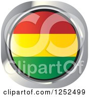 Clipart Of A Round Bolivian Flag Icon Royalty Free Vector Illustration