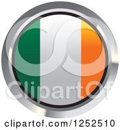 Clipart Of A Round Irish Flag Icon 2 Royalty Free Vector Illustration