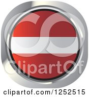 Clipart Of A Round Latvian Flag Icon Royalty Free Vector Illustration