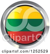 Clipart Of A Round Lithuanian Flag Icon 2 Royalty Free Vector Illustration