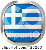 Clipart Of A Square Greek Flag Icon Royalty Free Vector Illustration