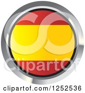 Clipart Of A Round Spanish Flag Icon 2 Royalty Free Vector Illustration