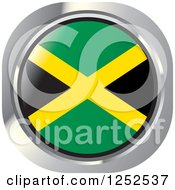 Clipart Of A Round Jamaican Flag Icon Royalty Free Vector Illustration by Lal Perera