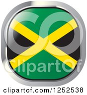 Clipart Of A Square Jamaican Flag Icon Royalty Free Vector Illustration by Lal Perera