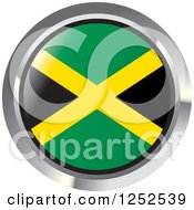 Clipart Of A Round Jamaican Flag Icon 2 Royalty Free Vector Illustration by Lal Perera