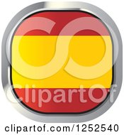 Clipart Of A Square Spanish Flag Icon Royalty Free Vector Illustration