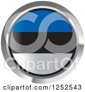 Clipart Of A Round Estonia Flag Icon 2 Royalty Free Vector Illustration