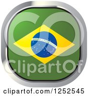 Clipart Of A Square Brazilian Flag Icon Royalty Free Vector Illustration