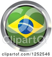 Clipart Of A Round Brazilian Flag Icon 2 Royalty Free Vector Illustration by Lal Perera