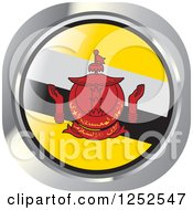Clipart Of A Round Bruneian Flag Icon 2 Royalty Free Vector Illustration by Lal Perera