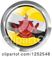Clipart Of A Round Bruneian Flag Icon Royalty Free Vector Illustration by Lal Perera