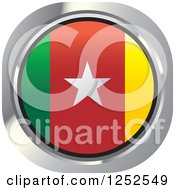 Clipart Of A Round Cameroonian Flag Icon Royalty Free Vector Illustration by Lal Perera