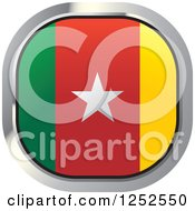 Clipart Of A Square Cameroonian Flag Icon Royalty Free Vector Illustration by Lal Perera