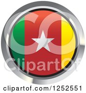 Clipart Of A Round Cameroonian Flag Icon 2 Royalty Free Vector Illustration by Lal Perera